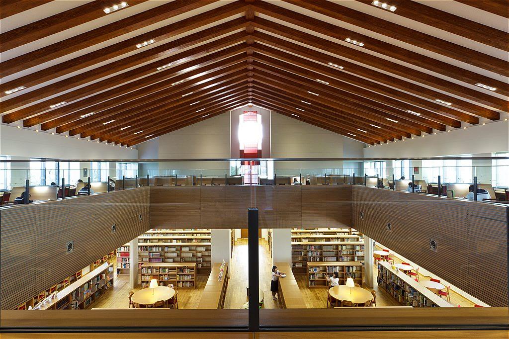 大妻学院多摩中学高等学校図書館棟
